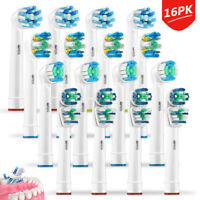 16Pcs Replacement Tooth Brush Heads Set Fit For Braun Oral B Electric Toothbrush