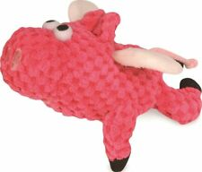 goDog Just for Me Flying Pig Checkers with Chew Guard Technology Tough Plush Dog