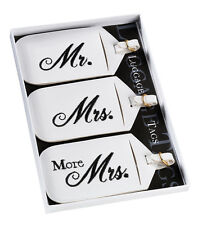 Mr & Mrs Black and White Luggage Tags Gift Set Honeymoon Present Holiday Travel