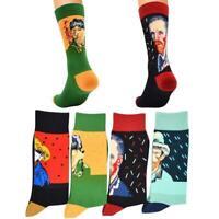 Retro Women Art Van Gogh Mural Painting Series Male Socks Oil Funny Socks Sale