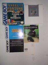 Wheel of Fortune (Nintendo Game Boy, 1990) COMPLETE w/ Manual & Box