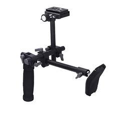 DSLR Video Camera Single Handle Shoulder Support Rig Stabilizer+QR Baseplate Kit