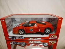 HOT WHEELS L2968 FERRARI ENZO - 60 RELAY SHELL - RED 1:18 - EXCELLENT IN BOX