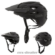 2021 ONeal Pike Solid Schwarz Grau Fahrrad Helm All Mountain Bike Trail MTB BMX