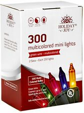 Holiday Joy - 300 Count Multi-Color Christmas String Lights - Indoor/Outdoor