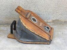 ancien gonfleur a pied bateau pneumatique ? antique inflatable foot marine wood