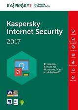 Kaspersky Internet Security 2017 - 1 PC / Gerät 1 Jahr / Lizenz per Email