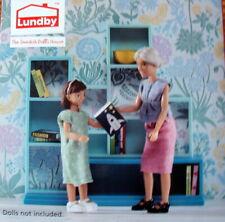 Bücherregal mit Zubehör Puppenhaus Lundby