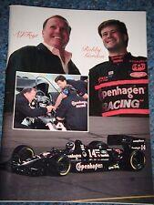 More details for a j foyt jr junior media guide robby gordon copenhagen racing lola nascar imsa