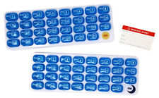 AM/PM 31-Day Monthly Pill Organizer Pods with Tray and Bonus Medical Alert Card