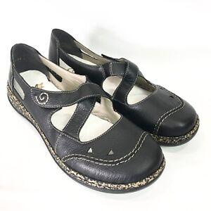 Rieker Womens 10 EU 42 Mary Jane Shoes Daisy Criss Cross Comfort Flat Antistress