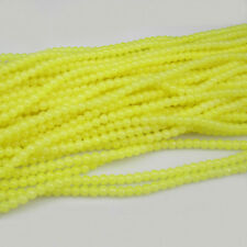 NEW DIY 100pcs 4mm Ball crystal Beads yellow color Fit Bracelets Necklaces TAD05