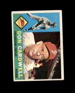 Don Cardwell Hand Signed 1960 Topps Philadelphia Phillies Autograph
