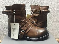 UGG COLLECTION ELISABETA CHESTNUT BIKERS BOOTS USA 6.5 / EU 37.5 / UK 5 - NIB
