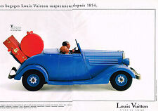 PUBLICITE ADVERTISING 035  1994  LOUIS VUITTON  bagages malles valises ( 2p)