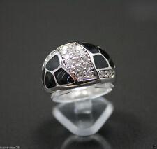 Markenlose Damen-Echtschmuck aus Sterlingsilber mit Zirkon-Ringe
