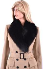NEW BURBERRY LONDON $1,995 CAMEL CASHMERE WOOL FOX FUR COAT JACKET 14 48
