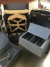 Rare Antique INDESTRUCTOBRIDES Wardrobe Steamer Trunk w/Drawers  GREEN/GOLD