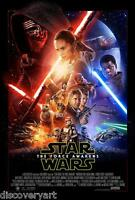 Star Wars Episode VII The Force Awakens 2015 Movie Poster Canvas Art Print Sci-F