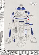 Star Wars The Last Jedi Series 1 BLUEPRINTS SCHEMATICS Trading Card Insert BP-7