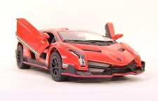 RED ORANGE Lamborghini VENENO Car Vehicle Diecast 1/36 Pull Back NEW BULK PACK