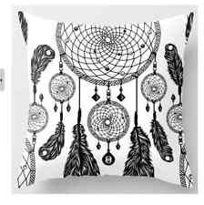 Boho Dream Catcher Feather Tribal Funky Sofa Cushion Cover Case Decor Girls Room