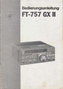 Yaesu FT-757 GX II - Bedienungsanleitung auf Deutsch
