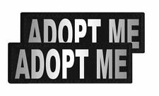 Adopt Me Patch Patch Reflective Extra Label Tag for Dog Harness Adopt Me