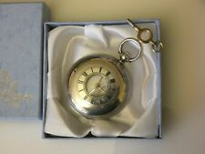 Beautiful Antique Hallmarked Silver Half Hunter Fusee Pocket Watch Dated 1877.