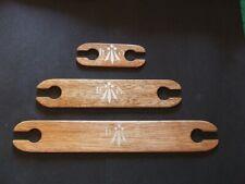 Mahogany wood stick flat shuttles weaving loom, rigid heddle, tapestry, frame UK