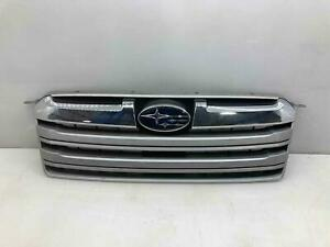 Upper Chrome Grille Grill 2013-14 Subaru Legacy Outback Wagon Repaired Tab/Crack