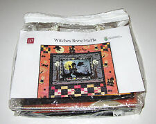 WITCHES BREW HAHA FABRIC QUILTING KIT sew spooky HALLOWEEN WALL BANNER