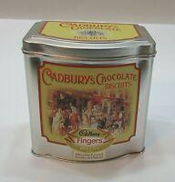 Empty Vintage 1990's Horizon Biscuit Cadbury Fingers 4x6 Candy Tin UK FREE S/H