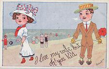 C4640 1909 POSTCARD A/S LINDAU COMIC HUMOUR I LOVE MY WIFE SERIES