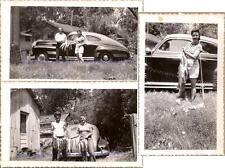 Couple with Trophy Fish Days Catch 1941 Pontiac Streamliner Sedan Coupe Photos