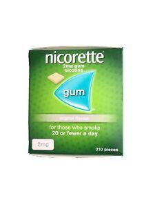 Nicorette 2mg Gum Original Flavour 210 Pieces - New