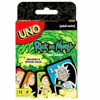 UNO Card Game Adult Uno RICK AND MORTY NEW