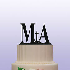 Anchor Monogram Acrylic Letters Wedding Cake Topper Decoration & Keepsake