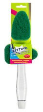 Bettina Refillable Scourer Dish Brush+Spare Head-Dispenses Liquid Automatically