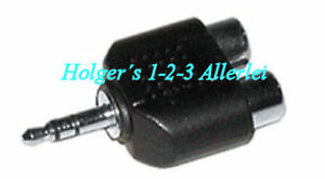 Audio Adapter 2x Cinchbuchse auf 3,5mm Klinkenstecker Stereo Cinch Klinke