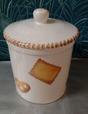 Grand pot à biscuits en céramique Petits beurre & Bretzel