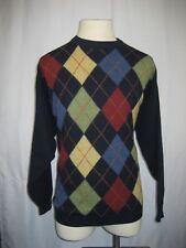 Mens Murphy of Ireland 100% Wool Navy Argyle Crewneck Pullover Sweater sz XL