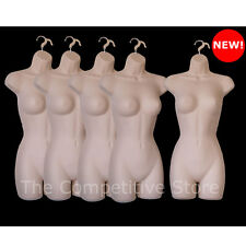 Lot Of 5 Female Dress Mannequin Forms Flesh - Great For Small And  Medium Sizes