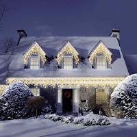 480 Super Warm White LED Snowing Effect Icicle Christmas Lights Xmas Lighting