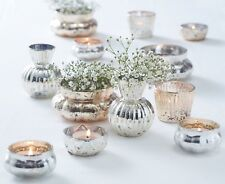 Gold & Silver Mercury Glass Tea Lights Wedding / Party Table Decorations