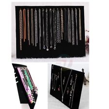 Velvet Necklace Display Holder Chain Jewelry Stand Easel Organizer Rack Black AU