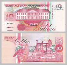 Surinam / Suriname 10 Gulden 1998 p137b unz.