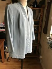 VINTAGE SIZE 20 QUALITY JACQUES VERT JACKET LIGHT AIRFORCE BLUE MADE IN ENGLAND