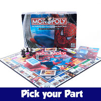 PICK YOUR PARTS - Monopoly Spiderman Board Game - SPARES / REPLACEMENTS