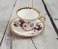 Royal Ardalt Cup And Saucer Bone China England Pink Roses